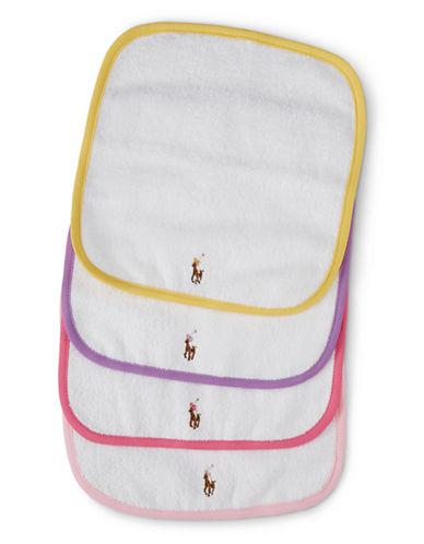 Ralph Lauren Childrenswear Set-of-Four Terry Washcloths-WHITE-One Size
