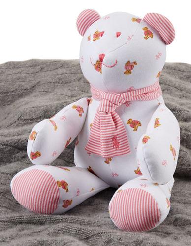 Ralph Lauren Childrenswear Plush Print Teddy Bear-WHITE-One Size
