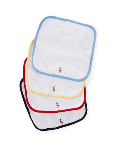 Ralph Lauren Childrenswear Four-Piece Washcloth Set-WHITE-One Size