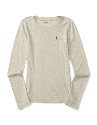 Ralph Lauren Childrenswear Long-Sleeved Knit Top-GREY-6X