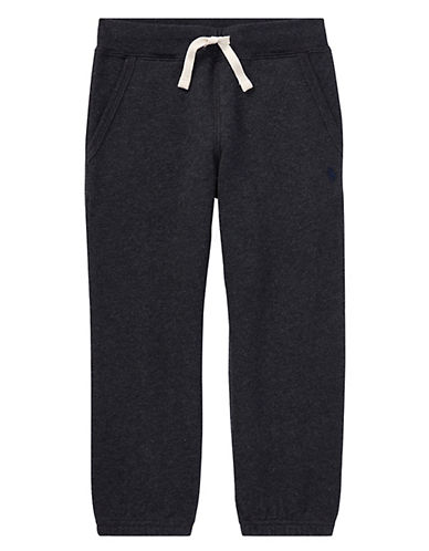 Ralph Lauren Childrenswear Pull-On Drawstring Sweatpants-HEATHER-3T