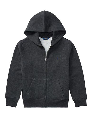 Ralph Lauren Childrenswear Classic Zip Hoodie-HEATHER GREY-3T