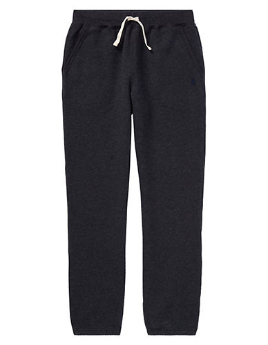 Ralph Lauren Childrenswear Pull-On Drawstring Sweatpants-HEATHER-Small