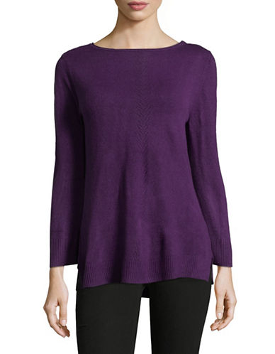 Karen Scott Luxsoft Roll neck Sweater-PURPLE-Small