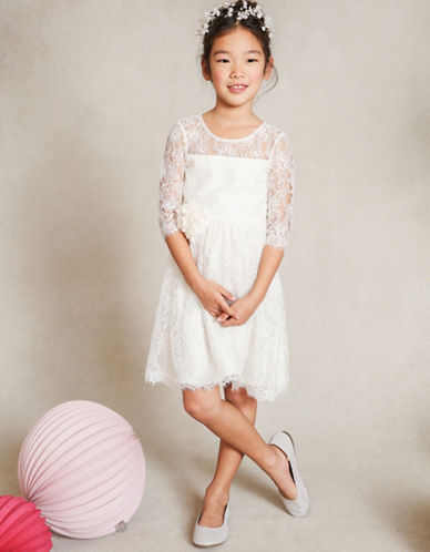 Jenny Yoo Annie Illusion Lace Dress-IVORY-2T