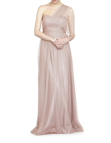 Jenny Yoo Annabelle Convertible Tulle Gown-TUSCAN BEIGE-2