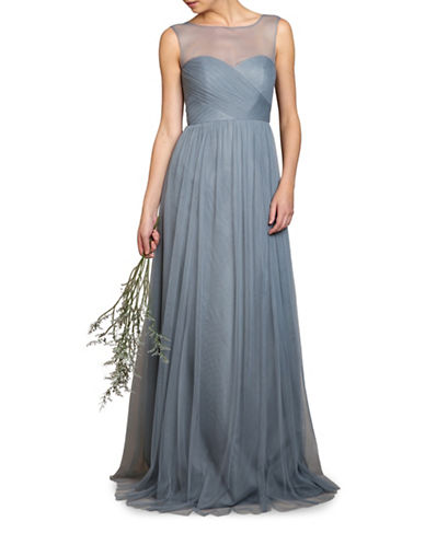 Jenny Yoo Aria Illusion Neck Gown-MAYAN BLUE-4