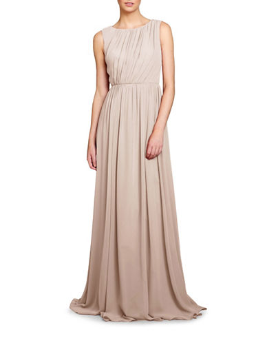 Jenny Yoo Eloise Pleated Bodice Gown-CHAMPAGNE-4