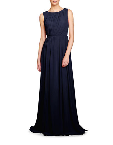 Jenny Yoo Eloise Pleated Bodice Gown-NAVY-6