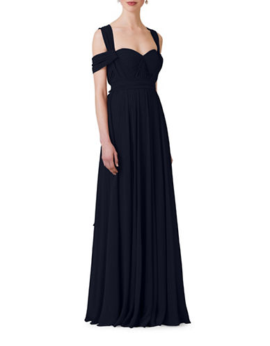 Jenny Yoo Mira Chiffon Convertible Dress-NAVY-14