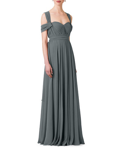 Jenny Yoo Mira Chiffon Convertible Dress-DENMARK BLUE-6