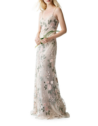 Jenny Yoo Julianna Embroidered Tulle Dress-BLUSH-0