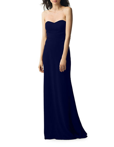 Jenny Yoo Kylie Crepe De Chine Strapless Dress-NAVY-0