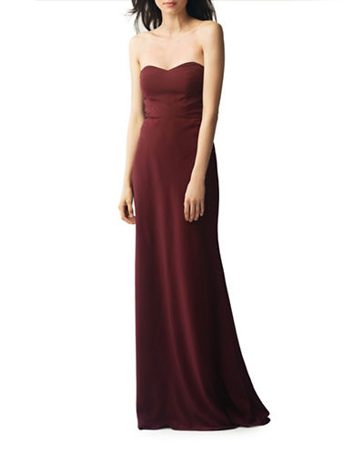 Jenny Yoo Kylie Crepe De Chine Strapless Dress-HIBISCUS-2