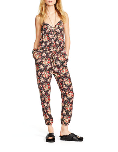 Denim & Supply Ralph Lauren Floral Racerback Jumpsuit-MULTI-COLOURED-Large