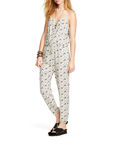 Denim & Supply Ralph Lauren Floral Racerback Jumpsuit-MULTI-COLOURED-Medium