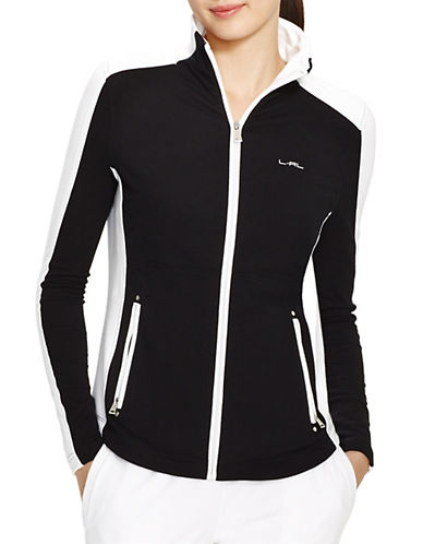 Lauren Ralph Lauren Colourblock Full Zip Jacket-BLACK-Small 87370186_BLACK_Small