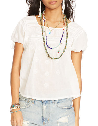 Denim & Supply Ralph Lauren Square Neck Boho Top-WHITE-Medium 87527474_WHITE_Medium
