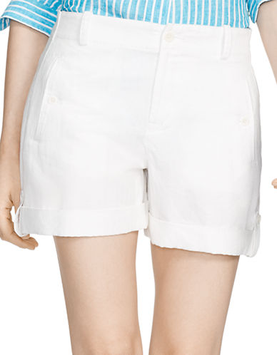 Lauren Ralph Lauren Linen Cotton Short-BLUE-4