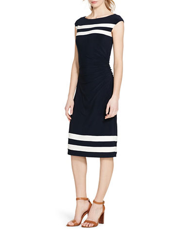 Lauren Ralph Lauren Striped Jersey Dress-NAVY-14 88366189_NAVY_14