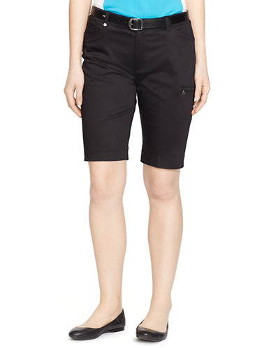 Lauren Ralph Lauren Stretch Cotton Short-BLACK-10