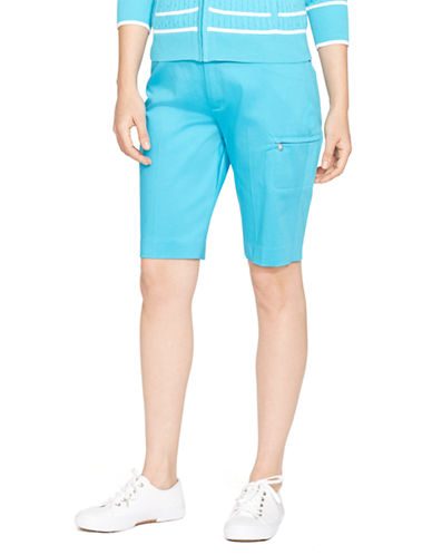 Lauren Ralph Lauren Stretch Cotton Short-AQUA-8 87525605_AQUA_8