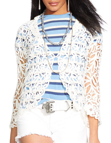 Polo Ralph Lauren Embroidered Lace Jacket-WHITE-Large 87529476_WHITE_Large