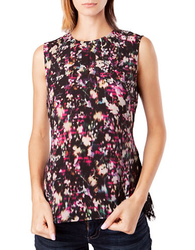 French Connection Midnight Bloom Plains Tank-BLACK-X-Small 88833299_BLACK_X-Small