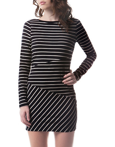 French Connection Tim Tim Striped Dress-MULTI-4