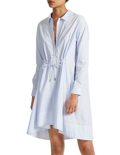 French Connection Smithson Striped Shirt Dress-BLUE-12