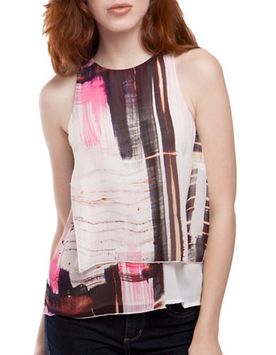 French Connection Cornell Layered Top-PINK-2