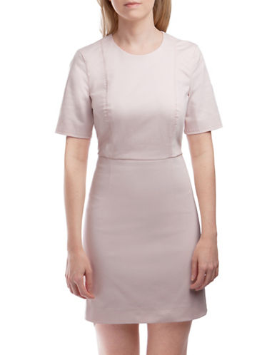 French Connection Top Stitch Sheath Dress-PINK-12