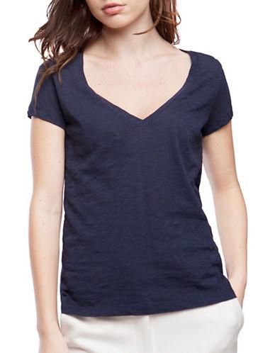 French Connection Fresh Slub T-Shirt-BLUE-X-Small 88977494_BLUE_X-Small
