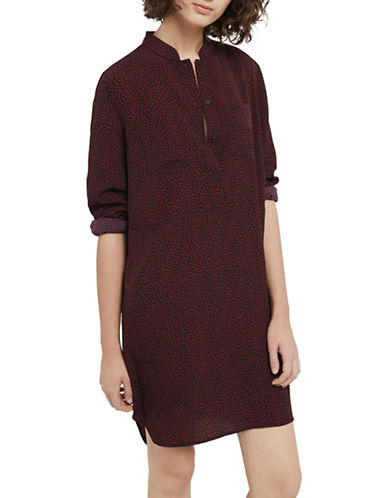 French Connection Callie Crepe Shirtdress-MULTI-10