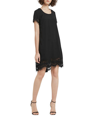 French Connection Classic Crepe Woven Tunic-BLACK-4