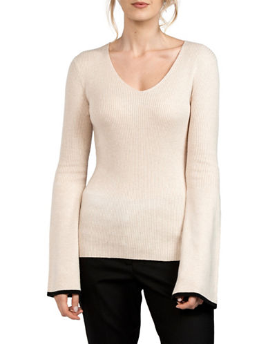 French Connection Bell Sleeve Sweater-NATURAL-X-Small
