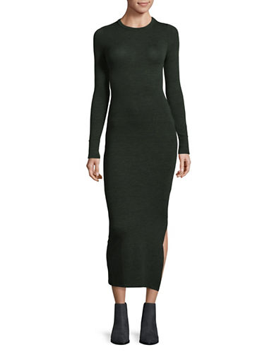 French Connection Long-Sleeve Midi Dress-GREEN-0
