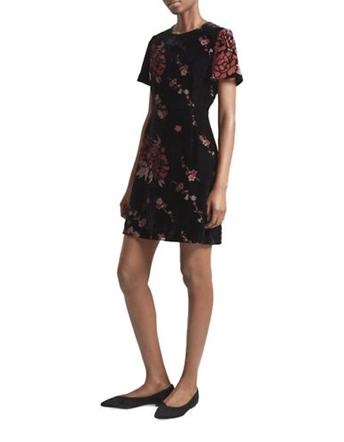 French Connection Floral Fit-And-Flare Dress-BLACK MULTI-8