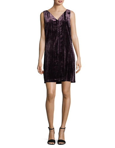 French Connection Sleeveless V-Neck Dress-PURPLE-2