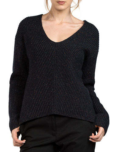 French Connection Ribbed Wool Sweater 89591026