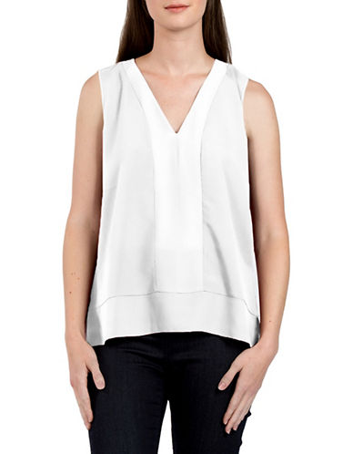 French Connection V-Neck Tank Top-WHITE-Medium