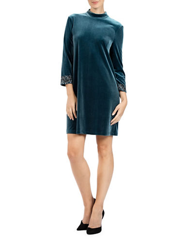 French Connection Aurore Shift Dress-TEAL-8