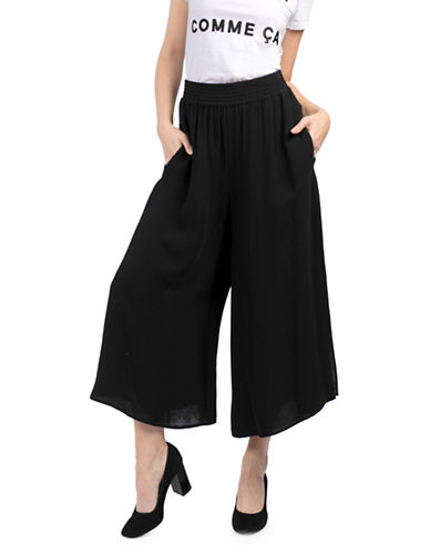 Hiva Crepe Cropped Culottes by French Connection