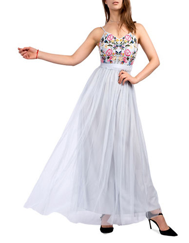 French Connection Embroidered Tulle Gown 89995227