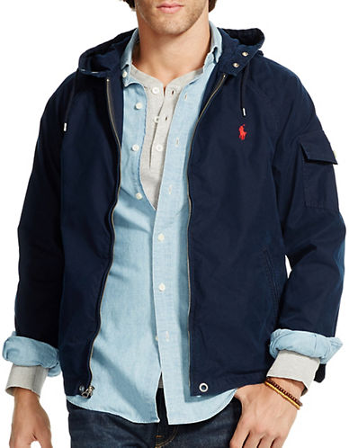 Polo Ralph Lauren Hooded Windbreaker-AVIATOR NAVY-XX-Large