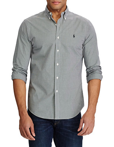 Polo Ralph Lauren Check Poplin Shirt-BLACK/WHITE-XX-Large