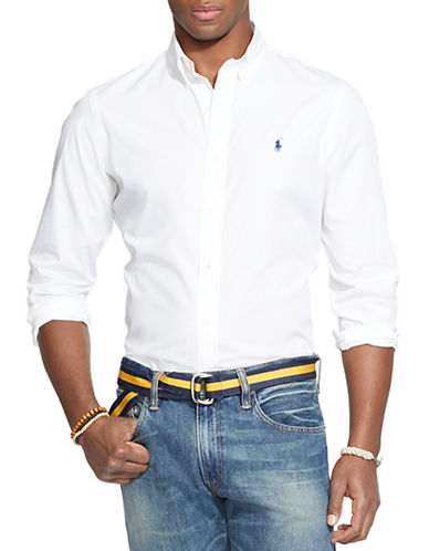 Polo Ralph Lauren Cotton Poplin Shirt-WHITE-X-Large