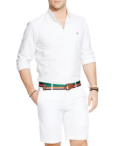 Polo Ralph Lauren Relaxed Fit Oxford Shirt-WHITE-Small