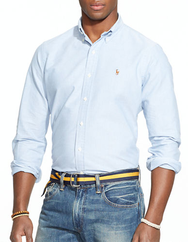 Polo Ralph Lauren Relaxed Fit Oxford Shirt-BLUE-Small