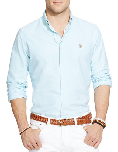 Polo Ralph Lauren Relaxed Fit Oxford Shirt-AEGEAN BLUE-Small